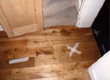 Leak Position Buried Under Solid Oak Floor