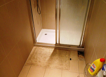 Wet Floor Below Tiles