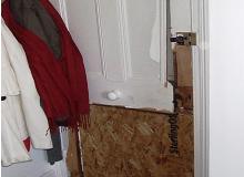Boarding Up of Door